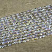 Mode Glasperlen, Glas, rund, bunte Farbe plattiert, Imitation natürlicher Quarz & verschiedene Größen vorhanden, Länge:ca. 15 ZollInch, ca. 3SträngeStrang/Tasche, verkauft von Tasche