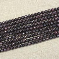 Natürlicher Granat Perlen, rund, verschiedene Größen vorhanden & facettierte, verkauft per ca. 15 ZollInch Strang