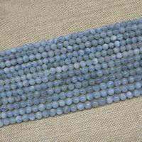 Aquamarin Perle, rund, natürlich, März Birthstone, 8mm, 48PCs/Strang, verkauft per ca. 15 ZollInch Strang