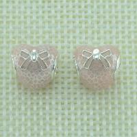 925 Sterlingsilber European Perlen, 925 Sterling Silber, Herz, ohne troll & Emaille, Bohrung:ca. 4.5-5mm, verkauft von PC