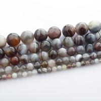 Natürliche Kaffee Achat Perlen, Botswana Achat, rund, verschiedene Größen vorhanden, verkauft per ca. 15 ZollInch Strang