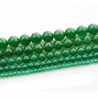 Natürliche grüne Achat Perlen, Grüner Achat, rund, verschiedene Größen vorhanden, verkauft per ca. 15 ZollInch Strang