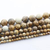 Bild Jaspis Perlen, rund, natürlich, verschiedene Größen vorhanden, verkauft per ca. 15 ZollInch Strang