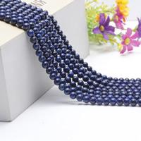 Blaue Goldstein Perlen, blauer Goldsand, rund, natürlich, verschiedene Größen vorhanden, Länge:ca. 15.5 ZollInch, ca. 2SträngeStrang/Tasche, verkauft von Tasche