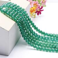 Natürliche grüne Achat Perlen, Grüner Achat, rund, verschiedene Größen vorhanden, Länge:ca. 15.5 ZollInch, ca. 2SträngeStrang/Tasche, verkauft von Tasche