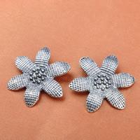 Zinklegierung Blume Anhänger, antik silberfarben plattiert, frei von Blei & Kadmium, 29x33.5mm, Bohrung:ca. 1-1.5mm, 100PCs/Tasche, verkauft von Tasche