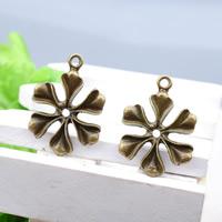 Zinklegierung Blume Anhänger, antike Bronzefarbe plattiert, frei von Blei & Kadmium, 21x29.5mm, Bohrung:ca. 1-1.5mm, 150PCs/Tasche, verkauft von Tasche