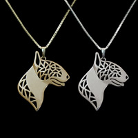 Unisex Halskette, Zinklegierung, mit Eisenkette, Hund, plattiert, Kastenkette, keine, frei von Blei & Kadmium, 45cm, verkauft per ca. 17.5 ZollInch Strang