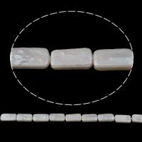 Natürliche kultivierte Süßwasserperlen Perle, Rechteck, 7x13x4mm-8x16x4mm, Bohrung:ca. 0.8mm, verkauft per ca. 15.5 ZollInch Strang