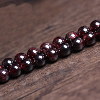 Granat Perle, rund, Januar Birthstone & verschiedene Größen vorhanden, Bohrung:ca. 1mm, verkauft per ca. 15 ZollInch Strang