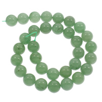 Grüner Aventurin Perle, rund, natürlich, verschiedene Größen vorhanden, Bohrung:ca. 1mm, verkauft per ca. 15 ZollInch Strang