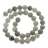 Labradorit Perle, rund, natürlich, verschiedene Größen vorhanden, Bohrung:ca. 1mm, verkauft per ca. 15 ZollInch Strang
