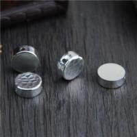 925 Sterlingsilber European Perlen, 925 Sterling Silber, flache Runde, verschiedene Muster für Wahl, 12.60x5mm, Bohrung:ca. 1.8mm, 10PCs/Menge, verkauft von Menge