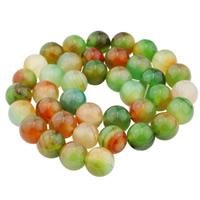 Malachit Achat Perle, rund, natürlich, verschiedene Größen vorhanden, verkauft per ca. 15.5 ZollInch Strang