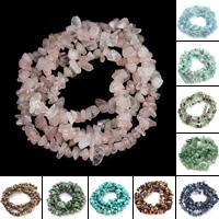 Edelstein Perle, Klumpen, natürlich, verschiedenen Materialien für die Wahl, 5-8mm, Bohrung:ca. 1mm, ca. 110PCs/Strang, verkauft per ca. 15.5 ZollInch Strang