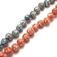Natürliche Süßwasser Muschel Perlen, rund, gemischte Farben, 10mm, Bohrung:ca. 0.5mm, Länge:ca. 14.5 ZollInch, 10SträngeStrang/Menge, ca. 40PCs/Strang, verkauft von Menge