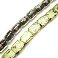 Handgewickelte Perlen, Lampwork, gemischt, 14-16x11-12x6-11mm, Bohrung:ca. 1.5mm, Länge:ca. 14.5-16.5 ZollInch, 10SträngeStrang/Menge, ca. 26PCs/Strang, verkauft von Menge