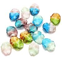 Lampwork Perle, gemischte Farben, 20-23x14-17x7mm, Bohrung:ca. 1.5mm, 5Taschen/Menge, ca. 50PCs/Tasche, verkauft von Menge