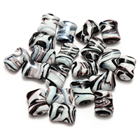 Handgewickelte Perlen, Lampwork, 19-20x14-15x8-9mm, Bohrung:ca. 2-2.5mm, 5Taschen/Menge, 30PCs/Tasche, verkauft von Menge