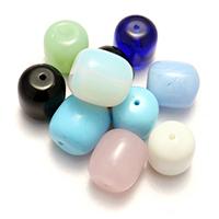 gemischte Materialien Perle, gemischte Farben, 19-21x17-19x17-19mmm, Bohrung:ca. 2mm, 5Taschen/Menge, 20PCs/Tasche, verkauft von Menge