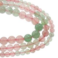 Strawberry Quartz Perle, rund, natürlich, verschiedene Größen vorhanden, gemischte Farben, Grad AAA, verkauft per ca. 15.5 ZollInch Strang