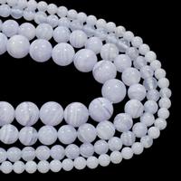 Natürliche violette Achat Perlen, Violetter Achat, rund, verschiedene Größen vorhanden, Grad AAA, verkauft per ca. 15.5 ZollInch Strang