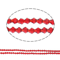 Kristall-Perlen, Kristall, facettierte, 5x5mm, Bohrung:ca. 1mm, Länge:ca. 11.5 ZollInch, 10SträngeStrang/Tasche, ca. 55PCs/Strang, verkauft von Tasche