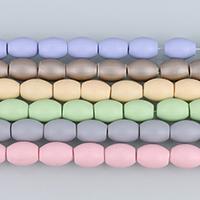 Südsee Muschelperlen, oval, natürlich, satiniert, keine, 13-14x10mm, Bohrung:ca. 0.5mm, ca. 31PCs/Strang, verkauft per ca. 16 ZollInch Strang