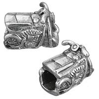 Edelstahl European Perlen, Motorrad, ohne troll & Schwärzen, 14x8.50x11mm, Bohrung:ca. 5mm, 10PCs/Menge, verkauft von Menge