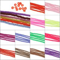 Harz Schmuckperlen, Volltonfarbe, keine, 3x1mm, Bohrung:ca. 0.5mm, Länge:ca. 15.5 ZollInch, 10SträngeStrang/Tasche, ca. 340PCs/Strang, verkauft von Tasche
