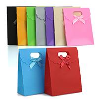 Mode Geschenkbeutel, Kunststoff, mit Satinband, Rechteck, keine, 123x160x3mm, 12PCs/Tasche, verkauft von Tasche