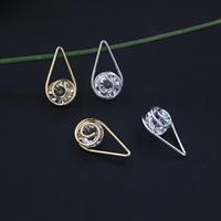KRISTALLanhänger, Eisen, mit Kristall, plattiert, facettierte, keine, frei von Blei & Kadmium, 24x12mm, 20PCs/Tasche, verkauft von Tasche