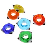 Handgewickelte Perlen, Lampwork, handgemacht, keine, 13x14x5.50mm, Bohrung:ca. 6mm, 5PCs/Tasche, verkauft von Tasche