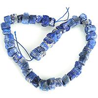 Lapislazuli Perlen, natürlicher Lapislazuli, 11-15x6-9x5-13mm, Bohrung:ca. 1-3mm, Länge:ca. 16 ZollInch, 5SträngeStrang/Menge, ca. 44PCs/Strang, verkauft von Menge
