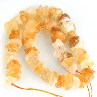 Natürlicher Citrin Perlen, Gelbquarz Perlen, November Birthstone, 8-18x5-16x6-18mm, Bohrung:ca. 1-3mm, Länge:ca. 16 ZollInch, 5SträngeStrang/Menge, ca. 52PCs/Strang, verkauft von Menge