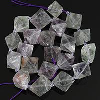Fluorit Perlen, 9-15x13-16x15-19mm, Bohrung:ca. 1-3mm, Länge:ca. 16 ZollInch, 5SträngeStrang/Menge, ca. 32PCs/Strang, verkauft von Menge