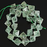 Fluorit Perlen, grün, 8-18x6-13x7-16mm, Bohrung:ca. 1-3mm, Länge:ca. 16 ZollInch, 5SträngeStrang/Menge, ca. 44PCs/Strang, verkauft von Menge