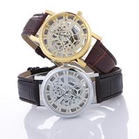 Damen Armbanduhr, PU Leder, mit Zinklegierung Zifferblatt & Glas, plattiert, einstellbar & für Frau, keine, frei von Nickel, Blei & Kadmium, 40x10mm, Länge:ca. 9.9 ZollInch, verkauft von PC