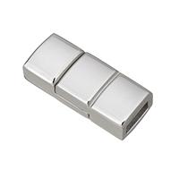 Edelstahl Magnetverschluss, plattiert, keine, 21x9x6mm, Bohrung:ca. 2.5x6mm, 5PCs/Menge, verkauft von Menge