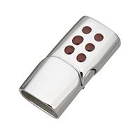 Edelstahl Magnetverschluss, plattiert, Emaille, keine, 29x14x8.50mm, Bohrung:ca. 6x12mm, 5PCs/Menge, verkauft von Menge