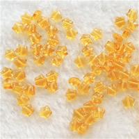 Synthetischer Quarz Perlen, Stern, gelb, 6.5mm, Bohrung:ca. 0.5-1mm, 50PCs/Tasche, verkauft von Tasche