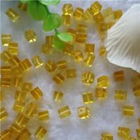Synthetischer Quarz Perlen, Würfel, gelb, 6mm, Bohrung:ca. 0.5-1mm, 50PCs/Tasche, verkauft von Tasche