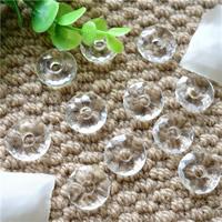 Synthetischer Quarz Perlen, Kreisring, klar, 15mm, Bohrung:ca. 4-5mm, 5PCs/Tasche, verkauft von Tasche
