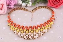 Mode Statement Halskette, Zinklegierung, goldfarben plattiert, Kastenkette & für Frau, frei von Blei & Kadmium, 580x290x56mm, verkauft per ca. 22.5 ZollInch Strang