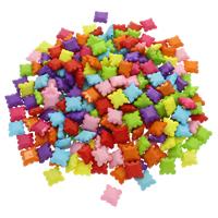 Volltonfarbe Acryl Perlen, gemischte Farben, 5-10mm, Bohrung:ca. 1mm, 500G/Tasche, verkauft von Tasche