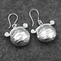 925 Sterling Silber Tropfen Ohrring, Geldsack, für Frau, 26x42mm, verkauft von Paar