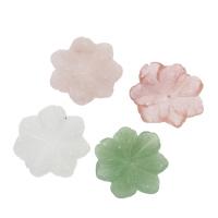 Grüner Aventurin Perle, Blume, verschiedenen Materialien für die Wahl & kein Loch, 26x6-32x7mm, verkauft von PC