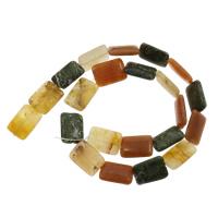 Mischedelstein Perlen, Edelstein, Rechteck, 13x19x4mm, Bohrung:ca. 1mm, ca. 22PCs/Strang, verkauft per ca. 14.5 ZollInch Strang