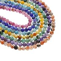 Feuerachat Perle, rund, keine, 8mm, Bohrung:ca. 1mm, ca. 43PCs/Strang, verkauft per ca. 14.5 ZollInch Strang