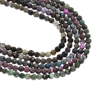 Feuerachat Perle, rund, keine, 3mm, Bohrung:ca. 1mm, ca. 126PCs/Strang, verkauft per ca. 14.5 ZollInch Strang